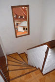 Stairway with window view — Stockfoto