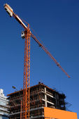 Crane at a building construction — Stock Photo