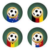 2010 world cup zuid-afrika groep c — Stockvector