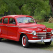 Stock Photo: Red old fashioned car