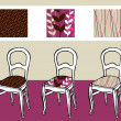 Royalty-Free Stock Vector Image: Three upholstered chairs
