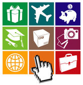 E-commerce grid — Stock Vector