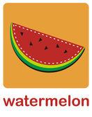 Watermelon — Stock Vector