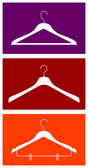 Clothes hangers — Stock Vector