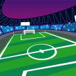 Royalty-Free Stock Vectorielle: Soccer Stadium wide angle Perspective