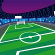 Stock Vector: Soccer Stadium wide angle Perspective