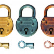 Royalty-Free Stock Photo: Antique Padlock group