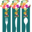 Royalty-Free Stock Vector Image: Cutlery contemporary pattern illustration