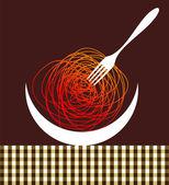 Noodles contemporary composition — Stock Vector