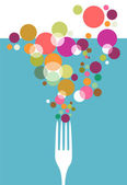 Cutlery restaurant menu design. — Stock Vector