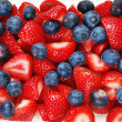 Strawberries and blueberries - Stock Photo