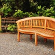 Stock Photo: Wooden garden bench