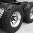 Truck tyre — Stock Photo