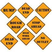 Uyarı işareti koleksiyonu — Stok fotoğraf