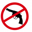 No guns sign — Stock Photo #3432960