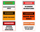 Industrial caution signs — Stock Photo