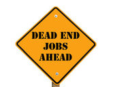 Dead-end jobs sign — Stock Photo