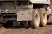 The truck in the mud — Stock Photo