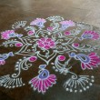 Stock Photo: Floral Rangoli Design