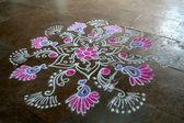Floral Rangoli Design — Stock Photo