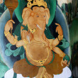 Ganesha on Monastery Wall — Stock Photo
