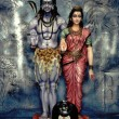 Shiva and Parvathi — Stock Photo