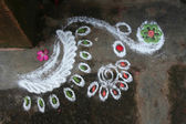 Folk Art Rngoli — Stock Photo