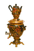 Russian samovar and teapot — Stock Photo
