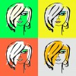 Woman face silhouette for your design - Stock Vector