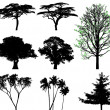 Trees - vector set — Image vectorielle