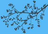 Floral Background, birds — Vector de stock