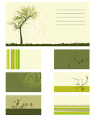 Card - vector collection - plants — Stock Vector