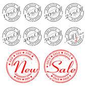 SALE stamp - vector set — Stock Vector