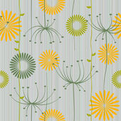 Seamless background with dandelion — Stock Vector