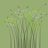 花卉背景、 饰品、 叶子和花 — 图库矢量图片