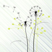 Abstract background with dandelions — Stock Vector