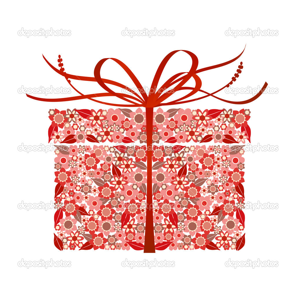 Stylized gift - vector  Stock Vector #3565475