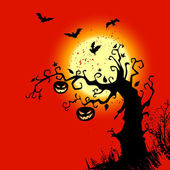 Halloween background with place for text — Stockvektor