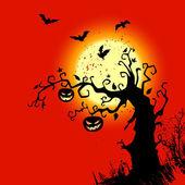 Fondo halloween con lugar para texto — Vector de stock