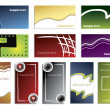 Cool new various business cards — Vector de stock #2697457