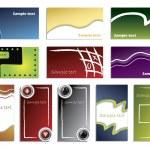 Cool novo vários cartões de visita — Vetorial Stock
