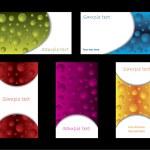 Bubbles business card set — Stock Vector #2698218