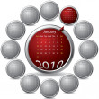 Cool rotating calendar — Stock Vector