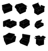 Black and white boxes — Stock Vector