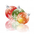 Christmas decorations reflecting — Stock Vector #2702494