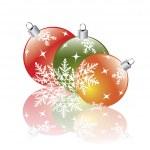 Christmas decorations reflecting — Stock Vector
