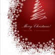 图库矢量图片: Red Christmas greeting card