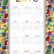 Colorful 2010 calendar — Stock Vector #2703595