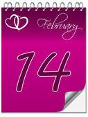 Valentine's calendar — Stock Vector