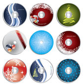 Christmas cd&dvd labels — Stock Vector
